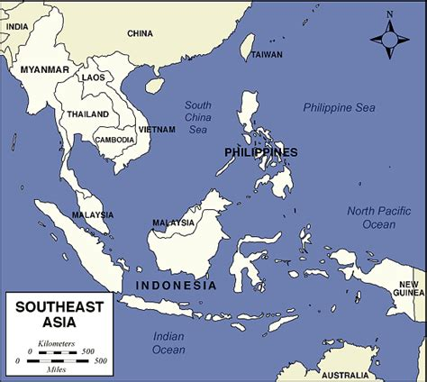 Map of Southeast Asia   The Art of Asia   History and Maps