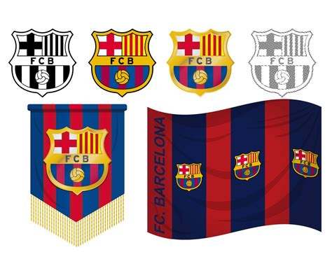 barcelona logo vector fcb logo vector set vector art graphics freevector com