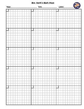 printable graph paper for math homework blank math homework practice sheet customizable by