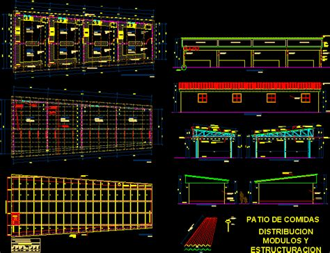 Food Court Design Dwg | food court dwg detail for autocad designs cad