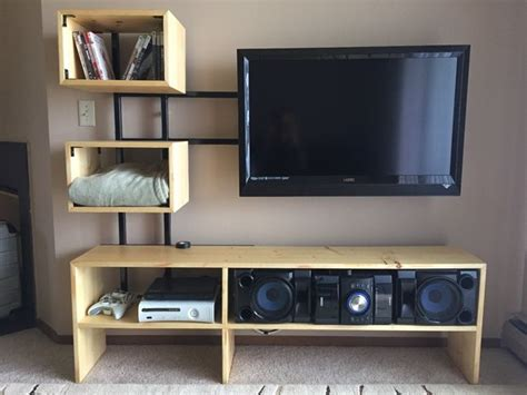 Floating Bed Designs by 15 Diy Tv Stands You Can Build Easily In A Weekend Home