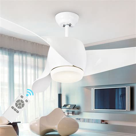 bedroom ceiling fans with remote control led modern white 95 265v 30w power dc ceiling fans with