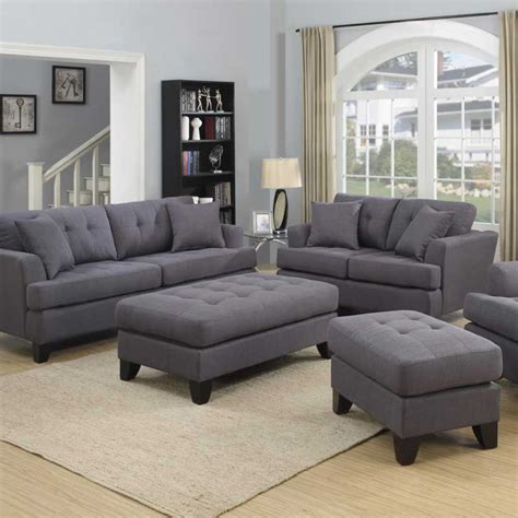 gray leather chair and ottoman gray sofa set homelegance ashmont sofa set dark grey linen