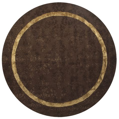 area rugs 8 ft shop brown solid tufted wool area rug