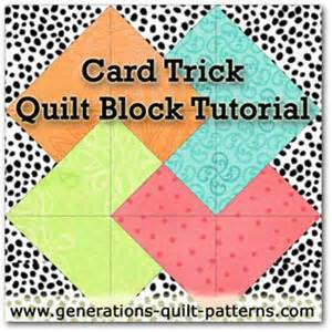 card trick quilt block from our free quilt block pattern