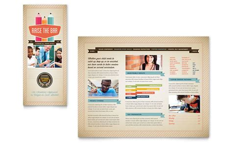 school brochure templates tutoring school brochure template design