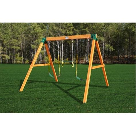 basic swing set a frame design used in construction of swing sets for
