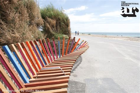 beach benches designs the longest bench by studio weave littlehton west