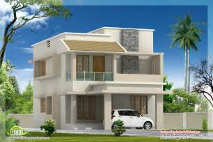 villa home plans 1770 sq modern villa with construction cost kerala
