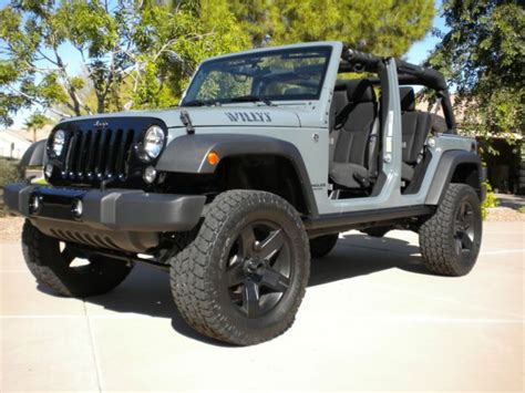 jeep willys lifted 2015 jeep wrangler unlimited willy s wheeler in anvil grey