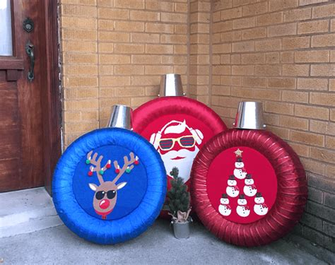 diy tire crafts transform tires into holiday ornaments