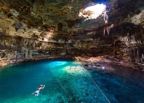 places   wild swimming  mexicos cenotes