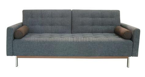 grey convertible sofa m123 dark gray fabric sofa bed convertible by at home usa