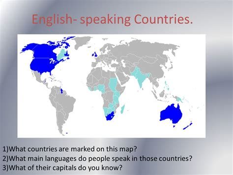 speaking countries map speaking countries ppt