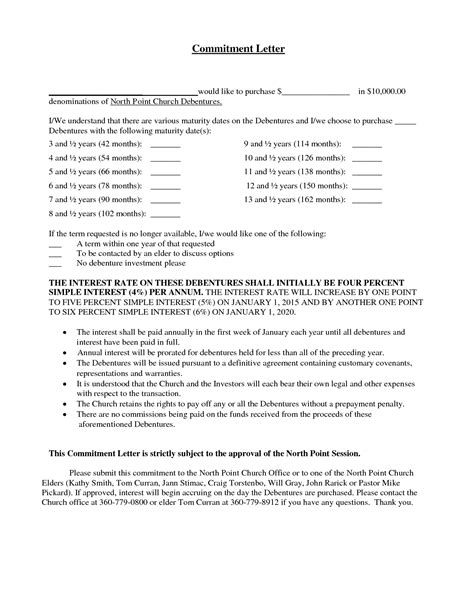 Mortgage Commitment Letter Interest Rate Best Photos Of Mortgage Commitment Letter Sle
