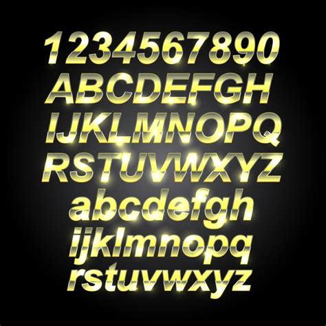lettere e caratteri oro caratteri lettere scaricare vettori gratis
