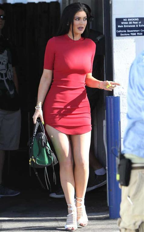 Chic Mini Dress jenner steps out in chic mini dress before