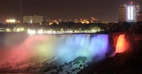 light niagara falls niagara falls lights marriott niagara falls