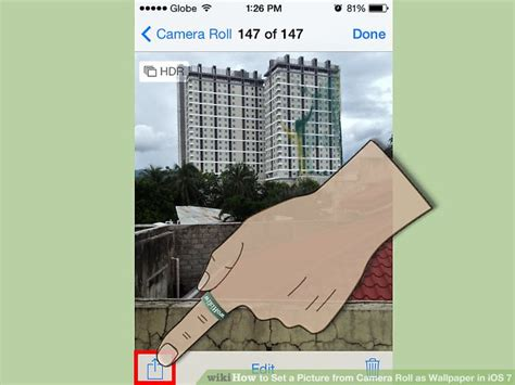 camera roll wallpaper tweak how to set a picture from camera roll as wallpaper in ios 7