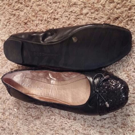 flat black sparkly shoes 43 bcbgeneration shoes sparkly black flat from