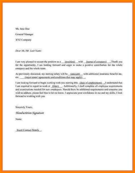 Offer Letter Reply Format 7 How To Write An Offer Letter Cio Resumed