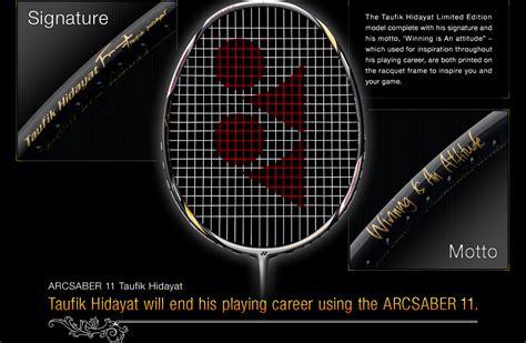 Raket Badminton Yonex Taufik Hidayat arcsaber11 taufik hidayat limited edition