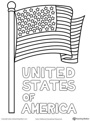 coloring pages united states flag preschool social studies printable worksheets
