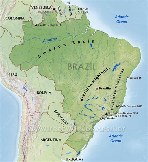 south america guiana highlands map infographics maps and more amazing amazonia part 1