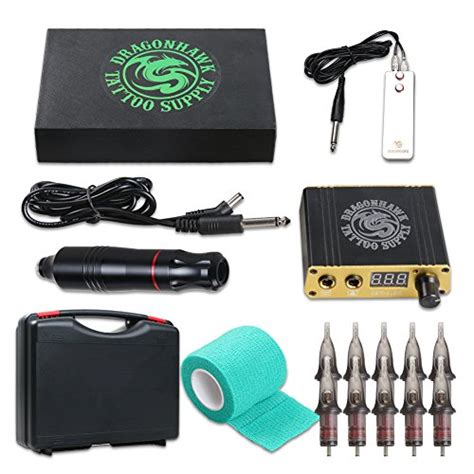 tattoo kit amazon dragonhawk cartridge machine kit pen rotary