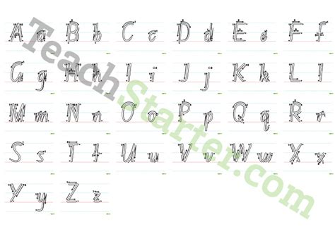 printable alphabet letters australia school font tracing alphabet with arrows teaching resource