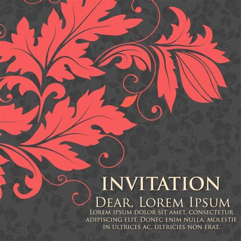 wedding invitation artwork wedding invitation and announcement card with floral