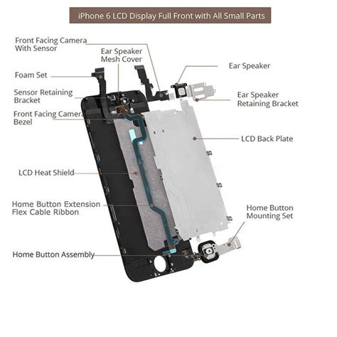 Lcd Touchscreen Iphone 7 4 7 In Original Bukan Replika black iphone 6 4 7 quot lcd digitizer touch screen replacement