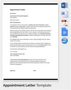 Appointment Letter Template Free Letter Of Employment Appointment