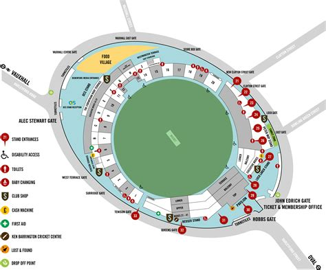 the oval find your way around the kia oval ground map