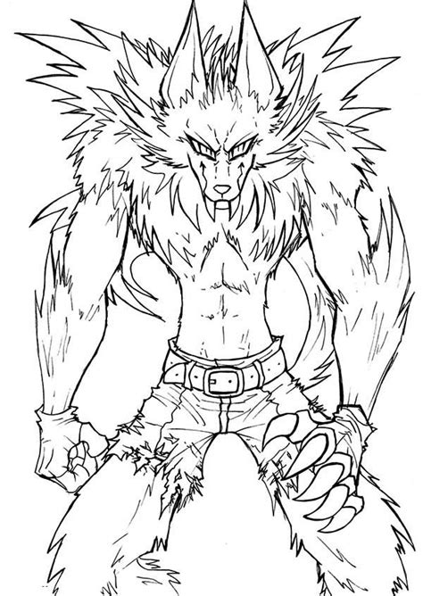 awesome drawing of werewolf coloring page coloring sun