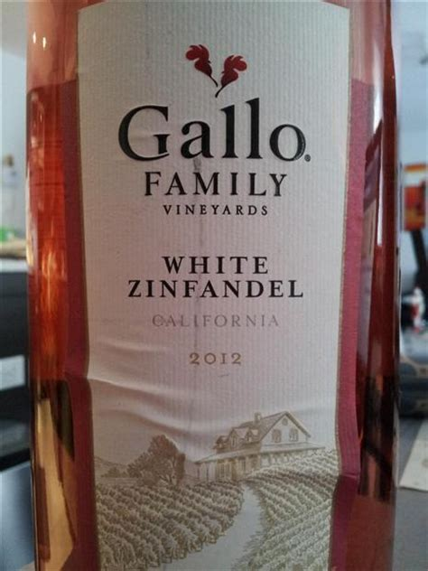 Definition White Zinfandel by 2012 Gallo Family Vineyards Gallo Of Sonoma White