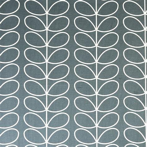grey pattern drapery fabric orla kiely linear stem cool grey