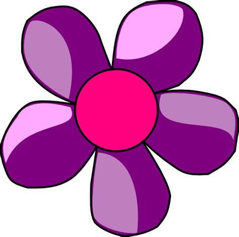 clipart flower purple flower clip at clker vector clip