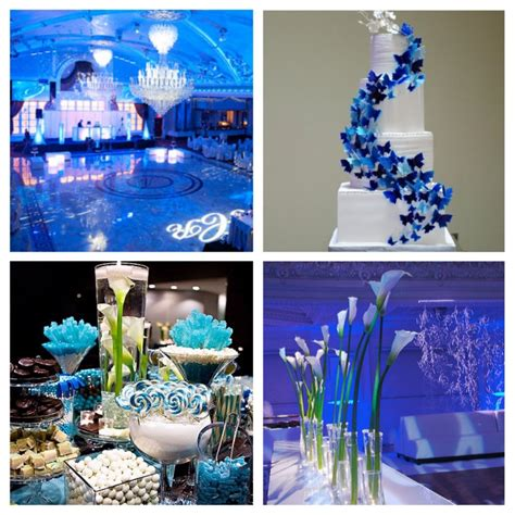 ideas for wedding blue decoration