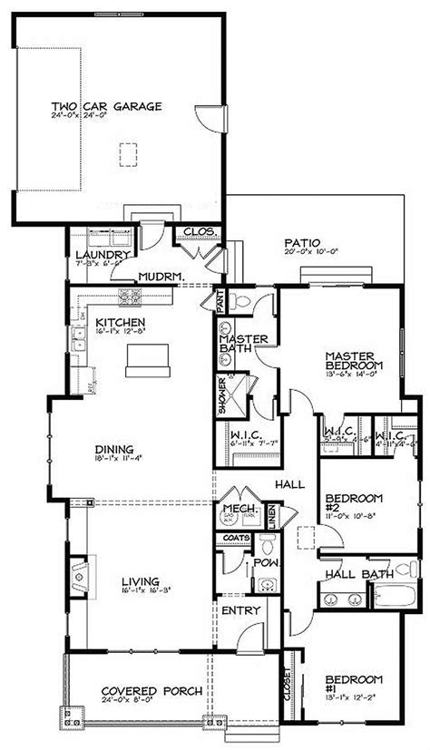 modern bungalow floor plans bungalow style house plan 3 beds 2 5 baths 1887 sq ft