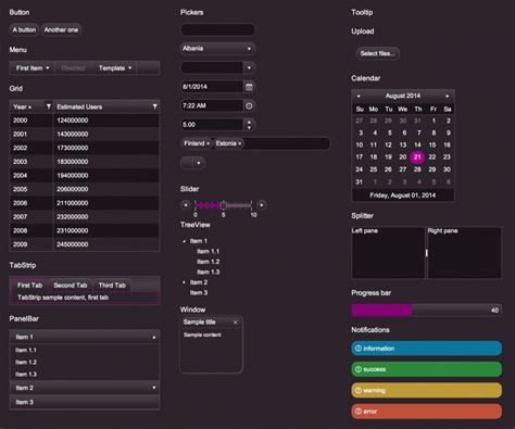 kendo themes list the case for kendo ui