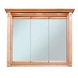 Oak Medicine Cabinets Heritage Oak 48x30 Triview Medicine Cabinet Bargain Outlet