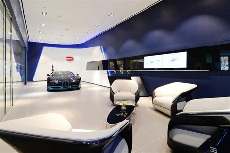 bugatti showroom bugatti shows new showroom design for chiron customers