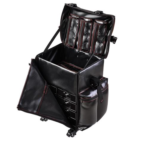 makeup bag oh so soft made with pull tabs and yarn bee pu oxford rolling makeup train case travel beauty trolley