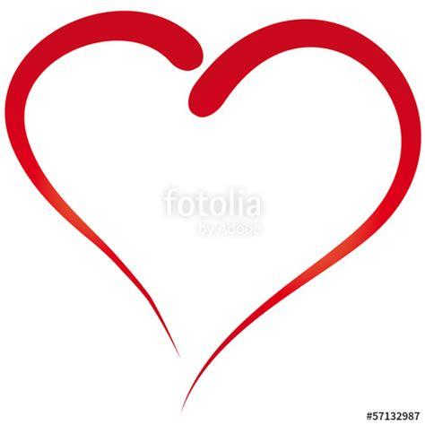 I Herz Organisieren by Quot Herz Gemalt Einfacher Umri 223 Quot Stockfotos Und