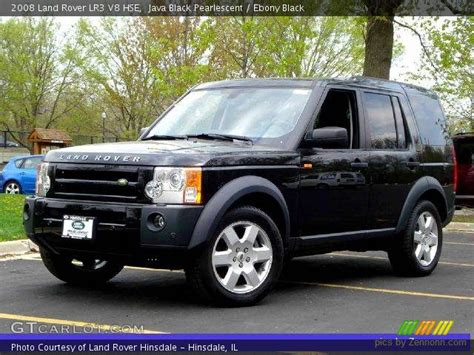 black land rover lr3 java black pearlescent 2008 land rover lr3 v8 hse