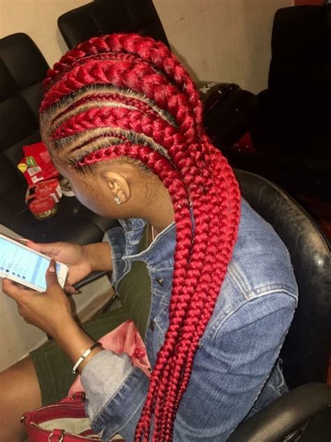 red cornrow braided hair 69 best images about b r a i d s m o r e on