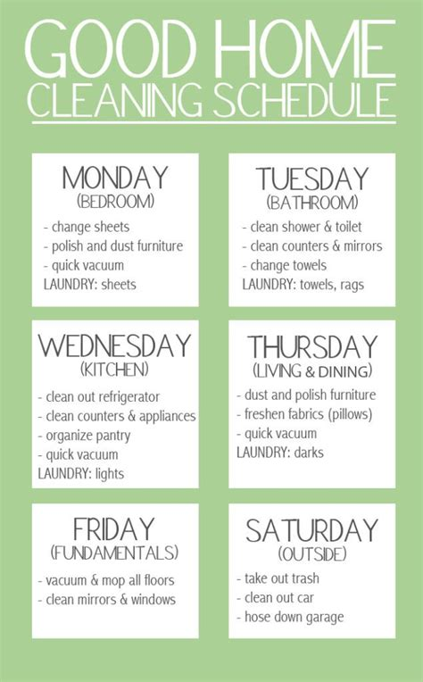 home cleaning schedule keep your stress levels to a