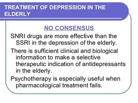 snri better than ssri depression in elderly