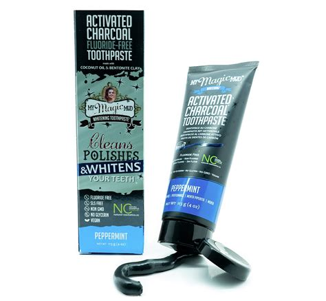 magic mud activated charcoal toothpaste  whitening